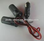 auto car cigarette lighter plug to socket cable