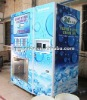 Purified water and ice vending machine