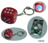 dice key chain with led or mirror