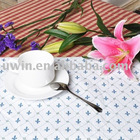 Printed Beautiful Placemats,waterproof red plate mats