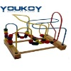 wooden bead coaster game educational toy