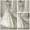 Royal length train satin edge bridal wedding veil