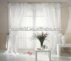 2012new stye new design 100% polyester white curtain