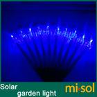 10pcs/lot Stainless steel solar garden light lamp, blue color, Christmas lamp, solar lawn lamp