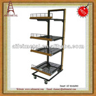 Bakery Metal Rolling Rack with Tilf Supermarket Shelf