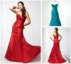 Taffeta Sweetheart Ruching Celebrity Red Carpet Dress