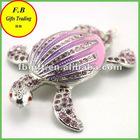 Crytal Sea Turtle Metal Jewelry Box/Case (FB008548)