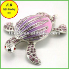 Crytal Sea Turtle Metal Jewelry Box/Case (FB008548)