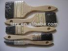 black bristle brushes with hard wood handle