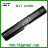 laptop battery for HP DV7 6cells replacement battery
