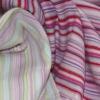 Yarn-dyed stripe single jersey 100%cotton fabric