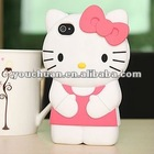 Promotion cheap hello kitty 3d case for Apple iphone 5G