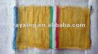 45*75CM HOT SALE GREEN 26g Agriculture Plastic Mesh bag/ Hand Raschel bag/ Woven bag/Drawstring bag/Jute bag/plastic bag