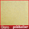 10x10 flat surface lobby decoration fade gold glass mosaic