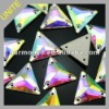 Crystal AB Triangle Sew-on Rhinestone Beads U3270