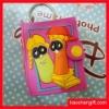 Cartoon notebook design soft pvc keychain