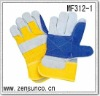10.5 Inch Length Cow Split Leather Working Glove