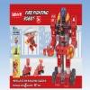 Hot b/o plastic truckman building block toy