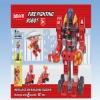 Hot b/o plastic truckman building block toy