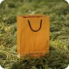 china handmade made yellow kraft paper bag with rope