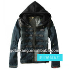Men's Hoodie Jeans Jacket coat outerwear hooded Winter coat hoodie denim jacket coat cowboy wear