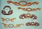 zinc brass plated ornamental furniture fittings