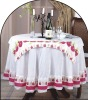 polyester cotton printed table cloth