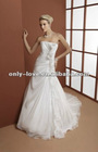 2013 latest sexy strapless long trail bridal wedding gowns OLW1469