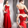 The fashionable rd rouge elegant strapless sexy evening dress