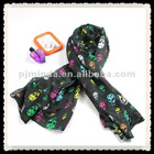 Multi Scarf Printed Skull Heads