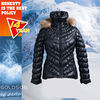 2013 Fashion Women Stretch The Body Line Short Down Coat With Real Raccoon Fur