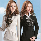 2012 fashion office ladies uniform clothes