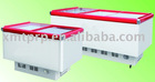 Best quality curved glass door chest freezer