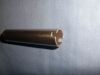 Aluminum extrusion tube, with puchining on ends, golden anodized surface treatment