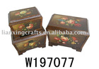 Finely Stamp Wooden Cases