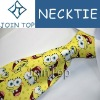 Cartoon custom logo digital print necktie