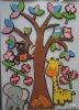 colourful EVA sticker