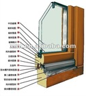 U S A style wood with aluminum window