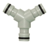 Three-way hose coupling