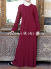 2012 Fashion maxi women casual Jersey Pleated Abaya dress
