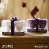 Purple Elegant Glsaa Jar Candle Gift Set