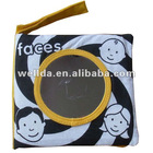 funny printed teaching faces baby cloth book