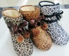 fashion plush indoor knitted slipper boots