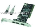 PCI IEEE 1394 3+1 ports card