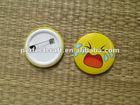 Security metal pin badge