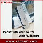 Portable sim card router with RJ45 Wan/lan port