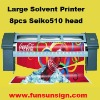 3.2m Large Format Solvent Vinyl Printer ( Seiko head, real 720dpi )
