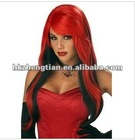 Red Volume Long Adult Wig halloween wigs curly wig