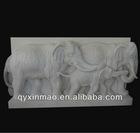 250cm*120cm white marble elephant relief