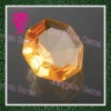 hot sale round golden sythetic cubic zirconia cz stone in store